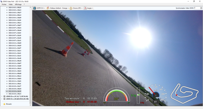 3DMS Video Perf incrustation données vidéo 3DMS